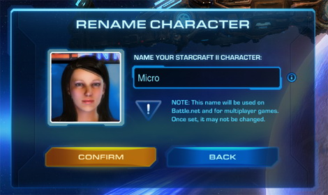 Rename character is sc2
