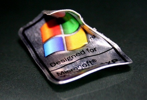 Windows XP sticker